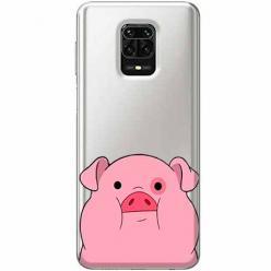 Etui na Xiaomi Redmi Note 9 Pro - Słodka różowa świnka.