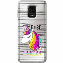 Etui na Xiaomi Redmi Note 9s - Time to be unicorn - Jednorożec.