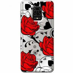 Etui na Xiaomi Redmi Note 9s - Czerwone róże.