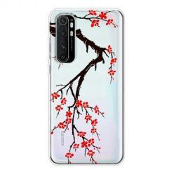 Etui na Xiaomi Mi Note 10 Lite - Krzew kwitnącej wiśni.