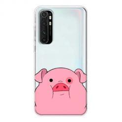 Etui na Xiaomi Mi Note 10 Lite - Słodka różowa świnka.