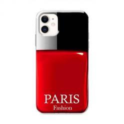 Etui na iPhone 12 Mini - Czerwony lakier do paznokci