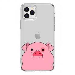 Etui na iPhone 12 Pro Max - Słodka różowa świnka.