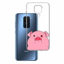 Etui na Xiaomi Redmi Note 9 - Słodka różowa świnka.