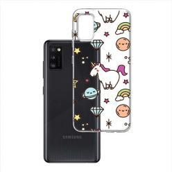 Etui na Samsung Galaxy A41 - Podniebne jednorożce.