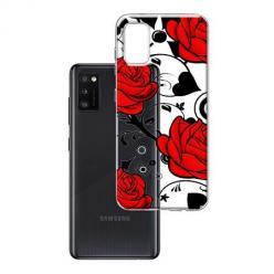 Etui na Samsung Galaxy A41 - Czerwone róże.