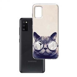 Etui na Samsung Galaxy A41 - Kot w okularach