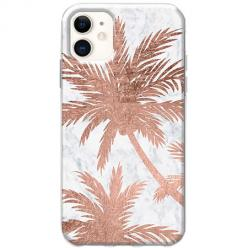 Etui na telefon Slim Case - Palmy rose gold