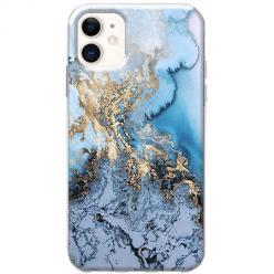 Etui na telefon Slim Case - Błękitny marmur