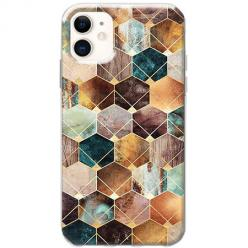Etui na telefon Slim Case - Marmurowe romby