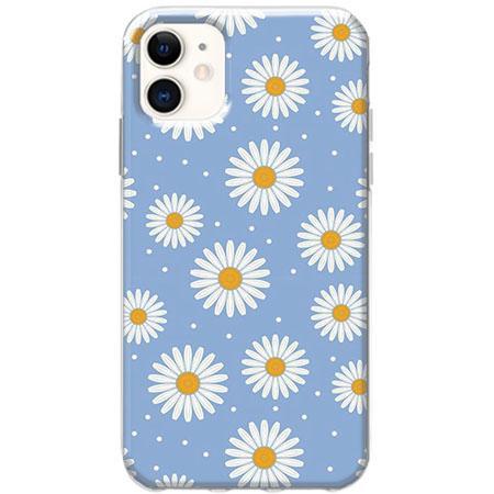 Etui na telefon Slim Case - Stokrotki na niebieskim tle