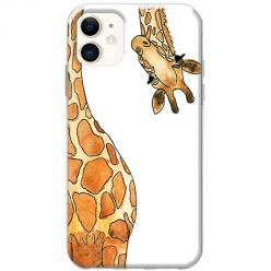Etui na telefon Slim Case - Ciekawska żyrafa