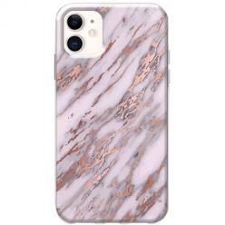 Etui na telefon Slim Case - Różowy marmur pozłacany