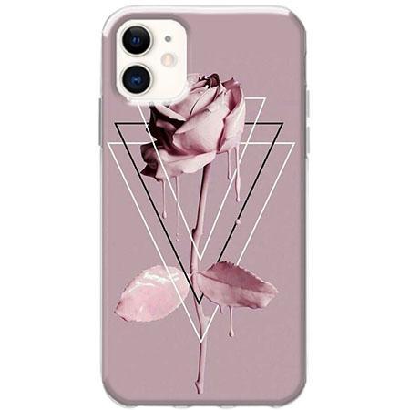 Etui na telefon Slim Case - Farbowana Róża w trójkątach