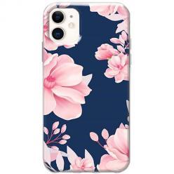 Etui na telefon Slim Case - Różowe kwiaty