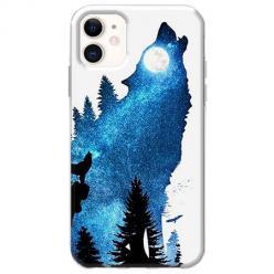 Etui na telefon Slim Case - Ujadający wilk nocą