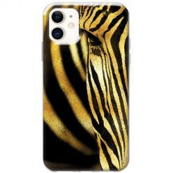 Etui na telefon Slim Case - Złota Zebra