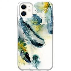 Etui na telefon Slim Case - Piórka watercolor