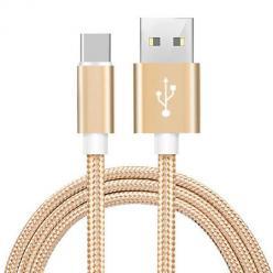 Kabel USB Typ-C do szybkiego ładowania QUICK CHARGE 3.0 - Złoty.