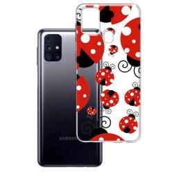 Etui na Samsung Galaxy M31s - Czerwone wesołe biedronki.