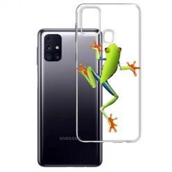 Etui na Samsung Galaxy M31s - Zielona żabka.