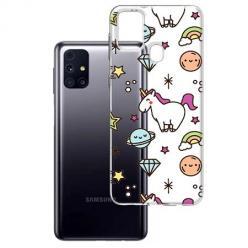 Etui na Samsung Galaxy M31s - Podniebne jednorożce.
