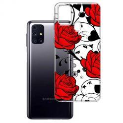 Etui na Samsung Galaxy M31s - Czerwone róże.