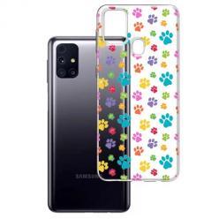 Etui na Samsung Galaxy M31s - Kolorowe psie łapki.
