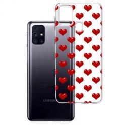 Etui na Samsung Galaxy M31s - Czerwone serduszka.