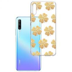 Etui na Huawei P Smart Pro 2019 - Złote koniczynki.