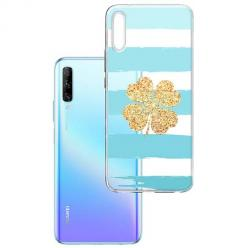 Etui na Huawei P Smart Pro 2019 - Złota czterolistna koniczyna.