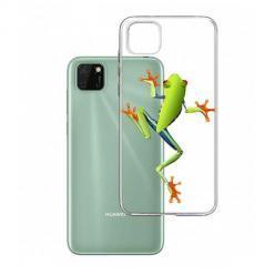 Etui na Huawei Y5P - Zielona żabka.