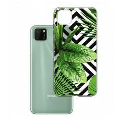 Etui na Huawei Y5P -  Egzotyczne liście bananowca.