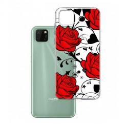 Etui na Huawei Y5P - Czerwone róże.