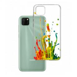 Etui na Huawei Y5P - Kolorowy splash.