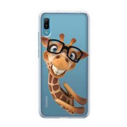 Etui na Huawei Y6 Pro 2019 - Wesoła żyrafa w okularach.
