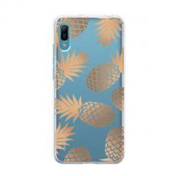 Etui na Huawei Y6 Pro 2019  - Złote ananasy.