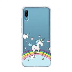 Etui na Huawei Y6 Pro 2019 - Jednorożec na tęczy.