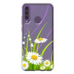 Etui na Huawei Y6P - Polne stokrotki.