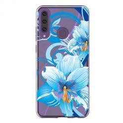 Etui na Huawei Y6P - Niebieski kwiat północy.