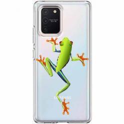 Etui na Samsung Galaxy S10 Lite - Zielona żabka.