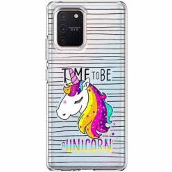 Etui na Samsung Galaxy S10 Lite - Time to be unicorn - Jednorożec.
