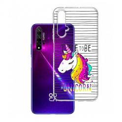 Etui na Huawei Nova 5T - Time to be unicorn - Jednorożec.