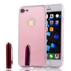 iPhone SE 2020 mirror - lustro silikonowe etui lustrzane TPU - Różowy.