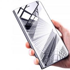Etui na Galaxy S8 Flip Clear View z klapką - srebrny.