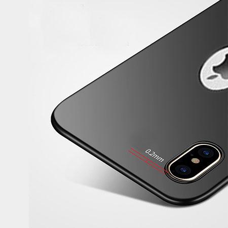 Etui na telefon iPhone XS Max - Slim MattE - Czarny.