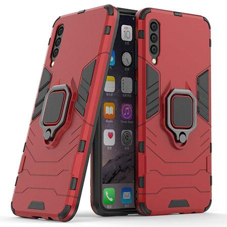 Etui na Samsung Galaxy A50 - Pancerne Magnet Ring - Czerwony.