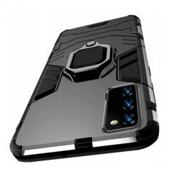 Etui na Samsung A41 Pancerne Magnet Ring - Czarny.