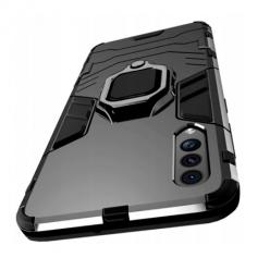 Etui na Samsung Galaxy A30s Pancerne Magnet Ring - Czarny.
