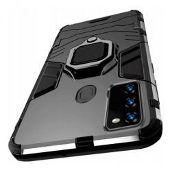 Etui na Samsung Galaxy M21 Pancerne Magnet Ring - Czarny.